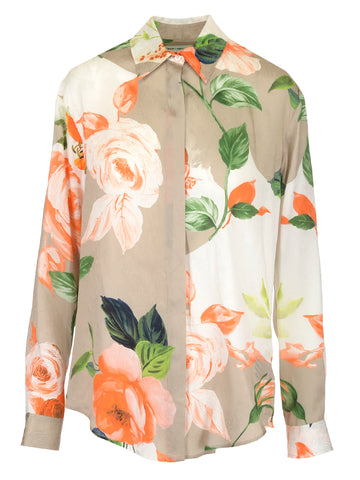 Off-White Floral Long Sleeve Shirt