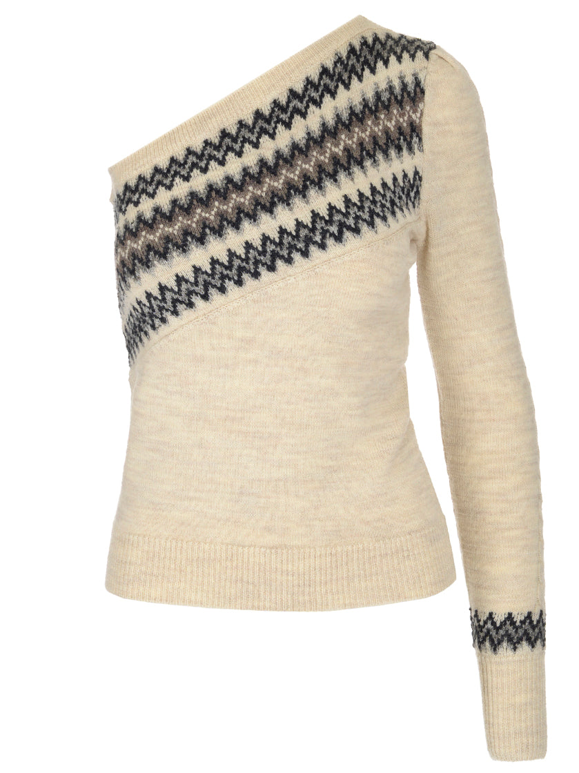 Isabel Marant One Shoulder Knitted Top