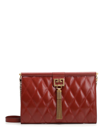 Givenchy Medium Gem Quilted Clutch With Chain