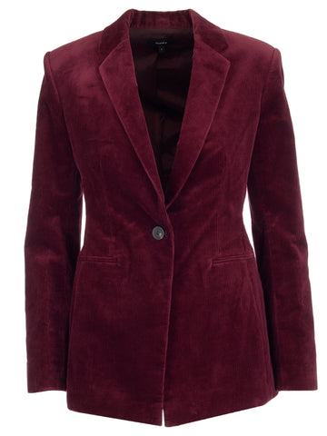 Theory Single-Breasted Textured Blazer