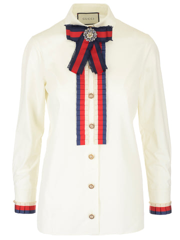 Gucci Bow Embellished Shirt