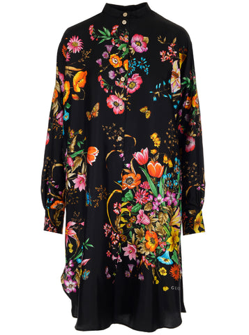 Gucci Floral Print Tunic Dress