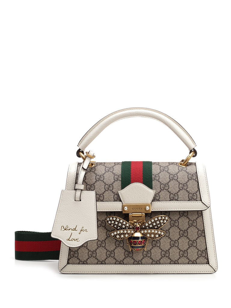 e77a39771d765 Gucci Queen Margaret Crystal Embellished Bee Clasp Tote Bag – Cettire
