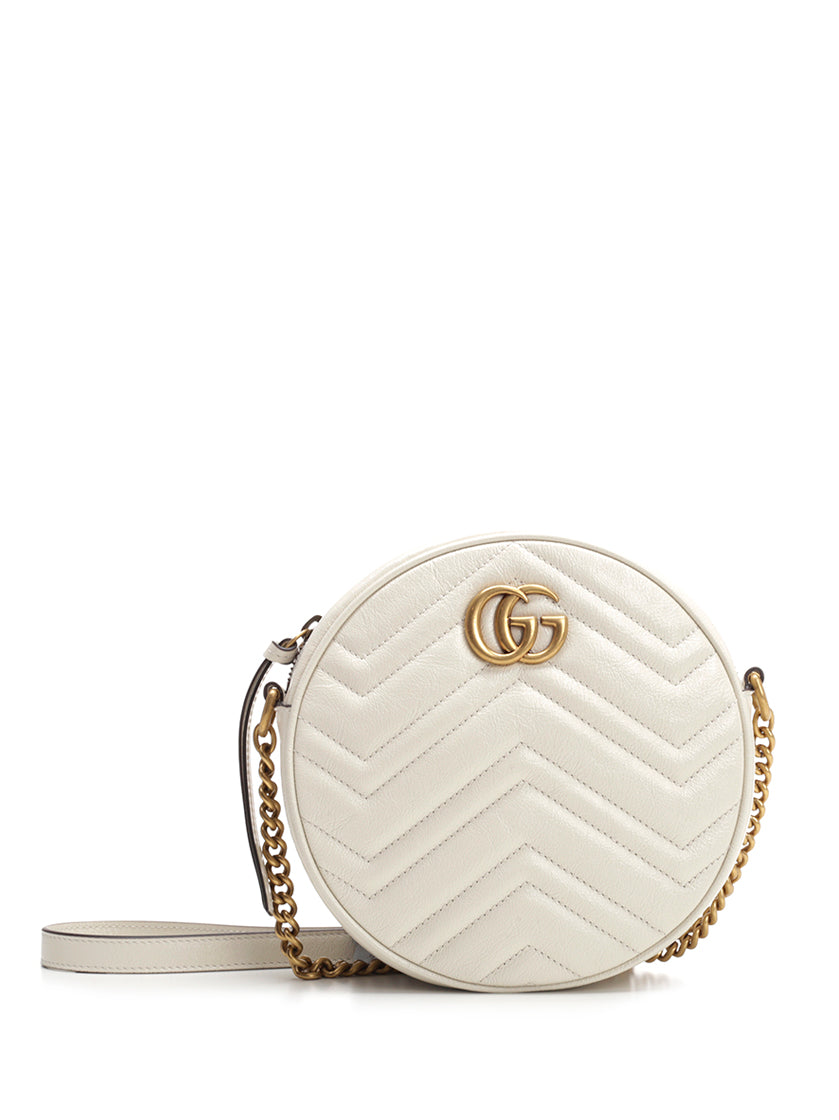 Gucci Shoulder bags GUCCI GG MARMONT MINI ROUND MATELASSÉ SHOULDER BAG