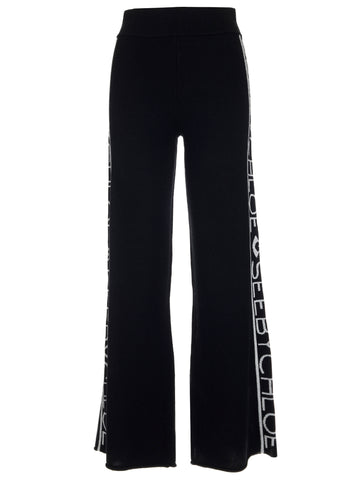 See By Chloé Side Band Logo Sweatpants