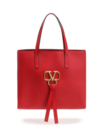 Valentino Large V-Ring Tote Bag