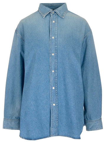 Balenciaga Logo Denim Shirt