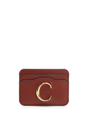 Chloé C Embossed Card Holder