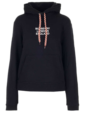 Burberry Logo Embroidered Hoodie