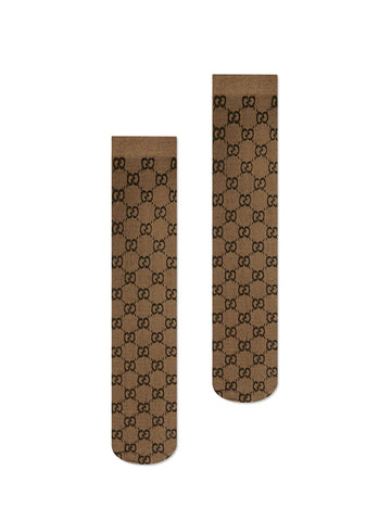 Gucci Monogram Knee-High Socks