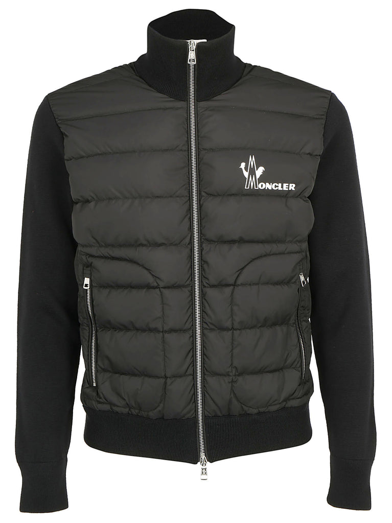 e810d804 Moncler Logo Print Padded Quilted Jacket