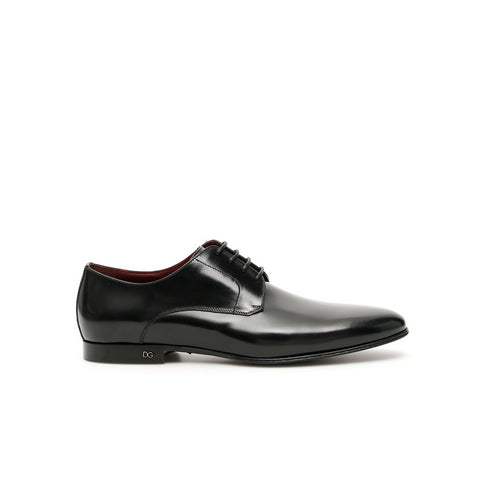 Dolce & Gabbana Pointed Toe Lace-Up Derby Shoes