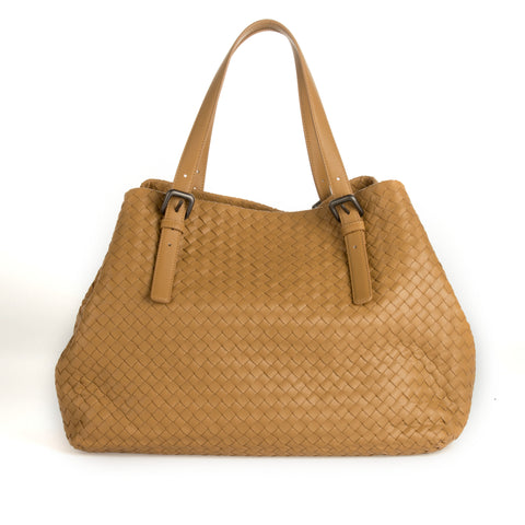 Bottega Veneta Large Woven Leather Tote Bag