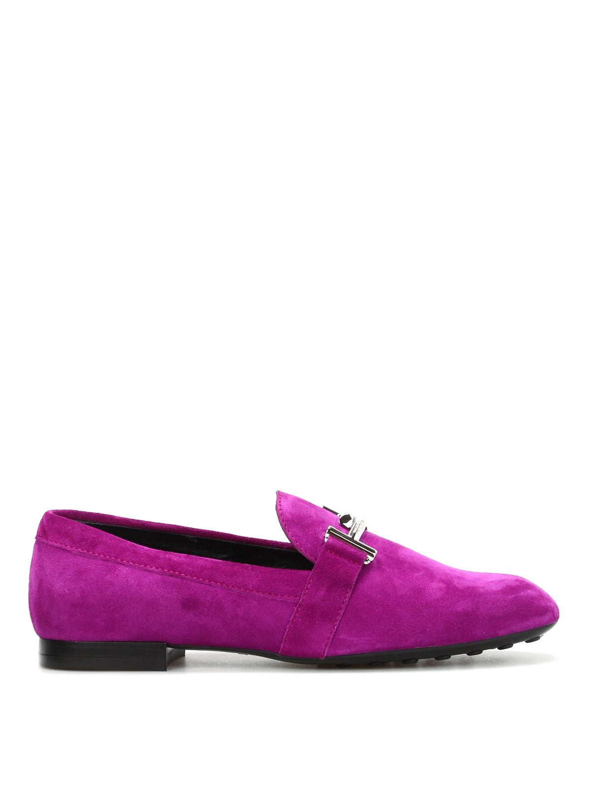 a89d2c10d7f Tod S Double T Suede Slippers In Purple Rose