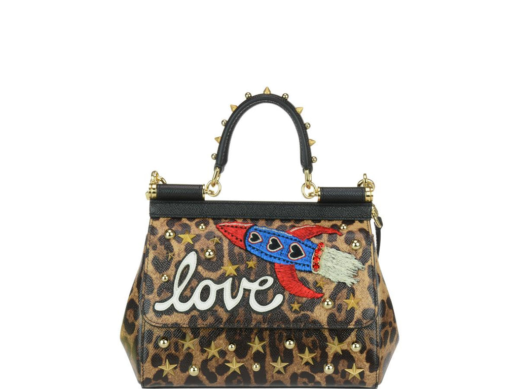 8bce42446b89 Dolce   Gabbana Embellished Leopard Print Tote – Cettire