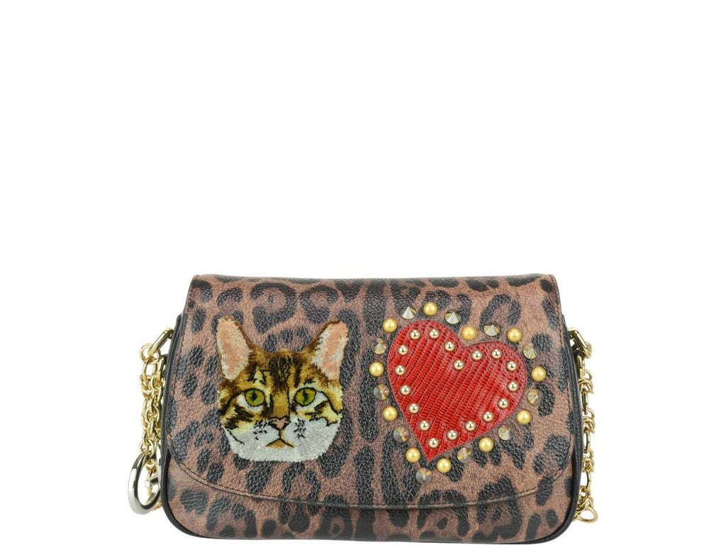 Dolce gabbana applique leopard print shoulder bag u cettire