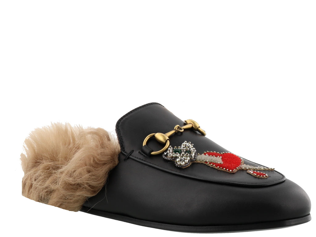 edf1ec56334 Gucci Embellished Princetown Mules – Cettire