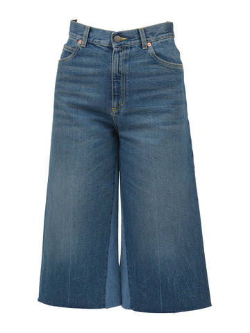 Gucci Cropped Wide Leg Jeans