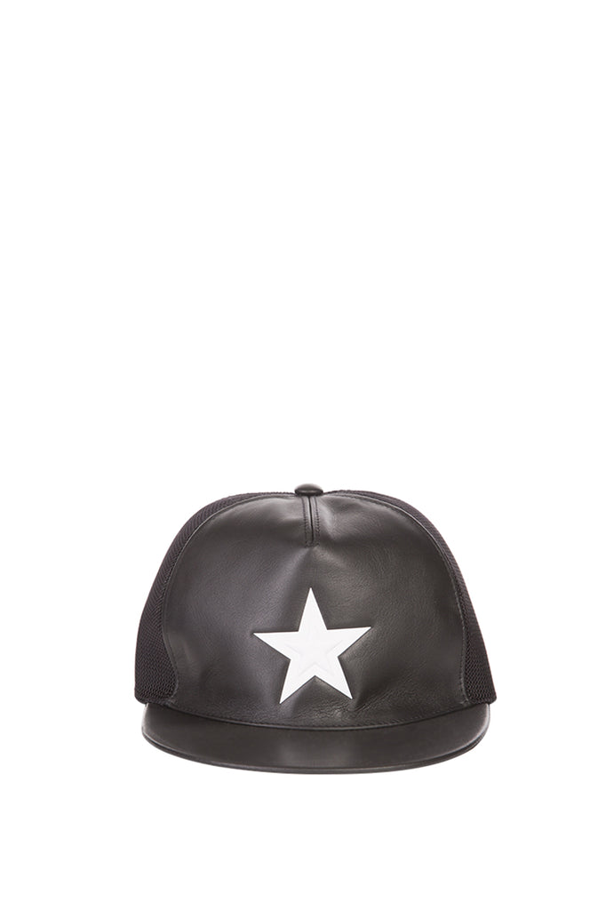 Givenchy Star Detail Leather Cap – Cettire 8725b391eb9