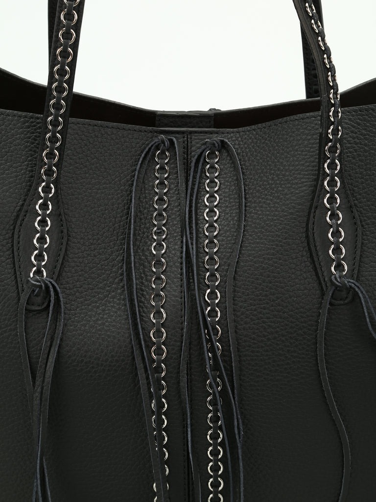 Eyelet Embellished Tassle Leather Tote Bag - UNI / black Tod's 2018 New Cheap Price View Sunshine 7UjWQS
