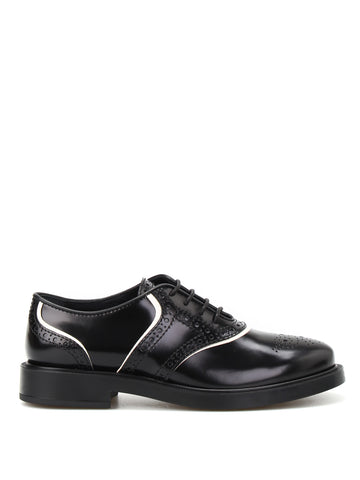 Tod's Brushed Leather Oxford Brogues