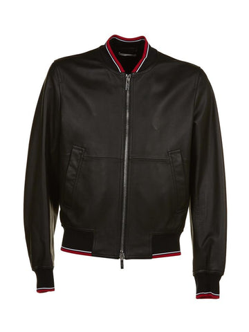 Dior Homme Hardior Leather Bomber Jacket