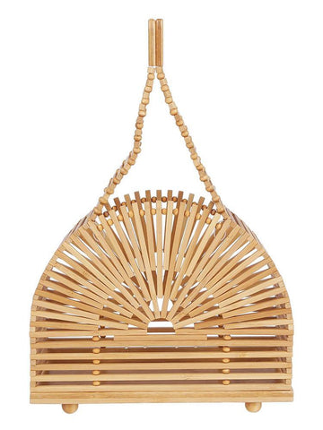 Cult Gaia Cupola Bamboo Mini Tote Bag