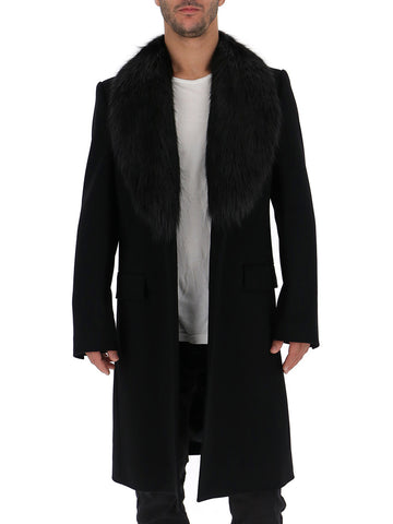 Dolce & Gabbana Fur Trimmed Coat