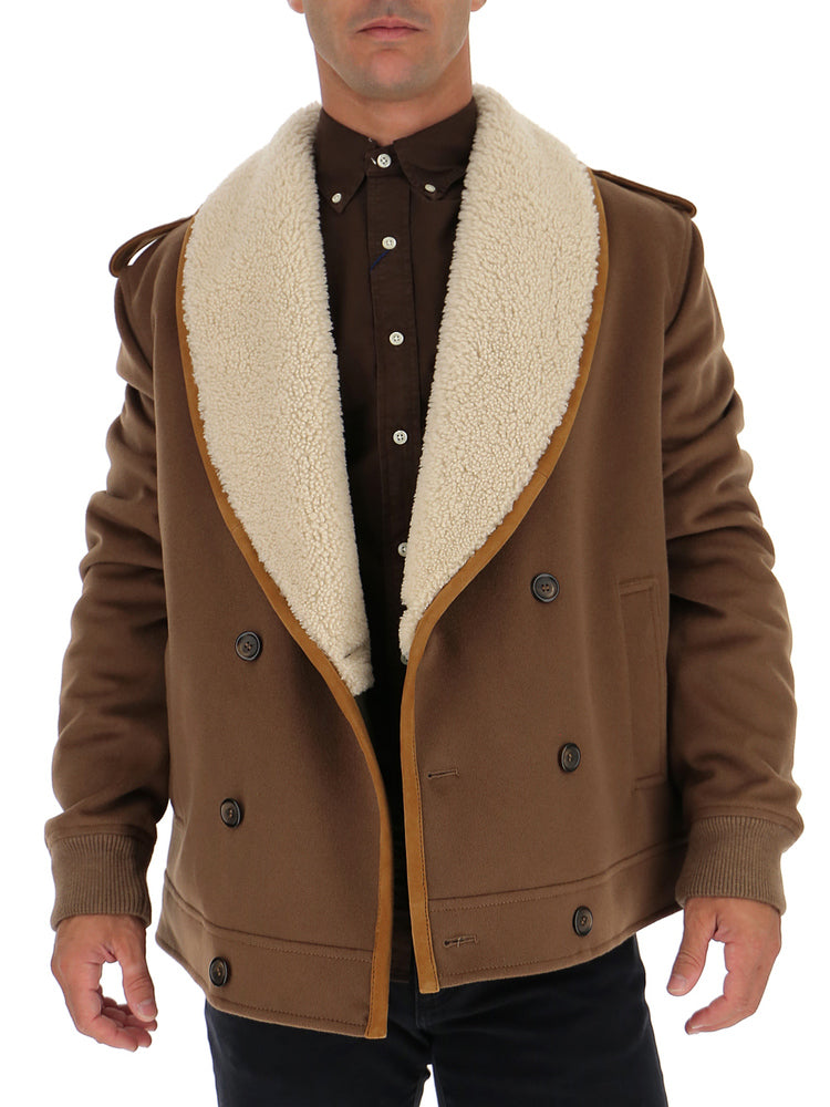 Dolce   Gabbana Double Breasted Shearling Jacket – Cettire b5ba30cf8af5