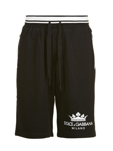 Dolce & Gabbana Crown Print Shorts