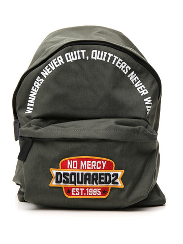Dsquared2 No Mercy Embroidered Logo Backpack