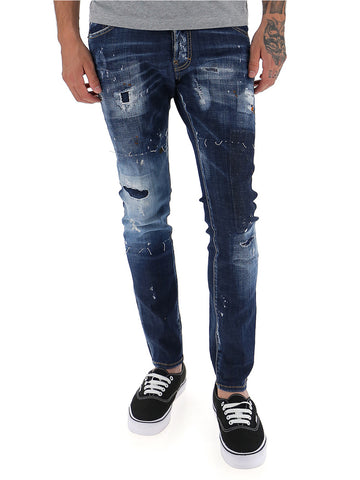 Dsquared2 Distressed Slim Fitted Jeans