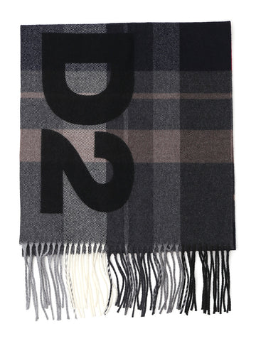 Dsquared2 Checked Fringed Scarf