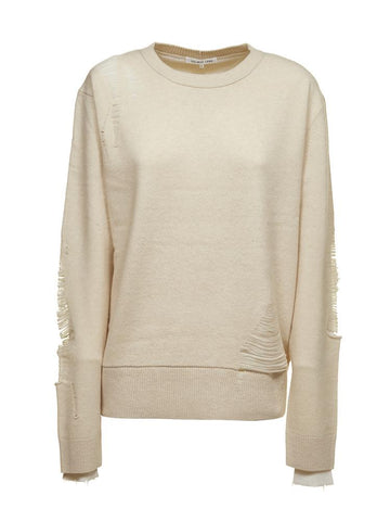 Helmut Lang Distressed Oversized Sweatshirt