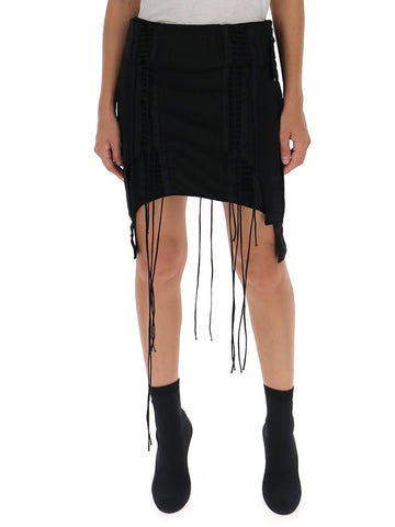 Helmut Lang Asymmetric Mini Skirt