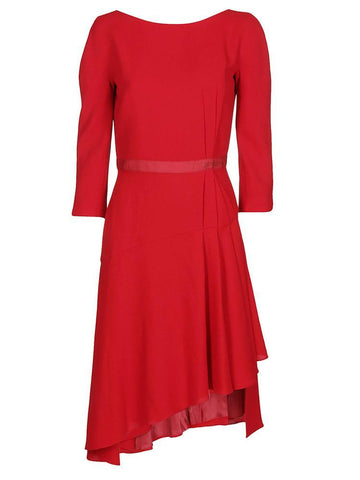 Lanvin Asymmetric Hem Belted Dress