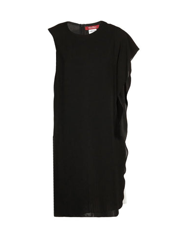Max Mara Studio Elegante Layered Ruffle Pleated Dress