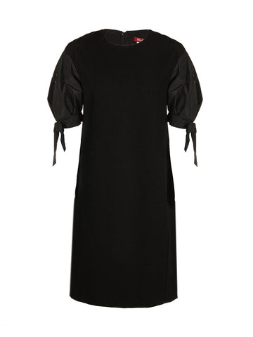 Max Mara Studio Elegante Bow Embellished Sleeve Dress