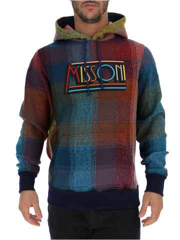Missoni Tartan Logo Hooded Sweater