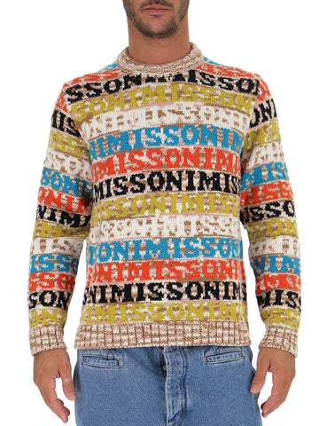 Missoni All-Over Logo Print Sweater
