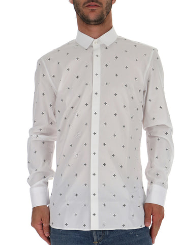 Neil Barrett All-Over Cross Print Shirt