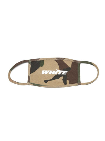 Off-White Camouflage Print Face Mask