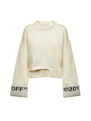 Off-White Asymmetric Logo Cuff Jumper