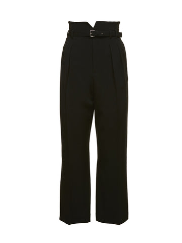 Red Valentino Cropped High-Waisted Pants