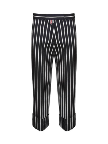 Thom Browne Chenille Banker Straight Leg Trousers