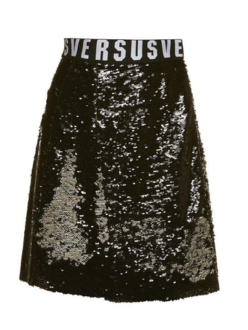 Versus Sequin Flared Mini Skirt