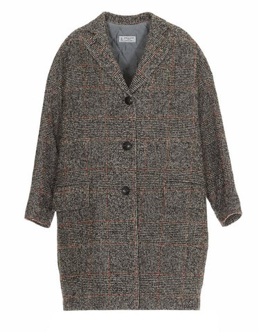 Alberto Biani Checked Loose-Fit Coat