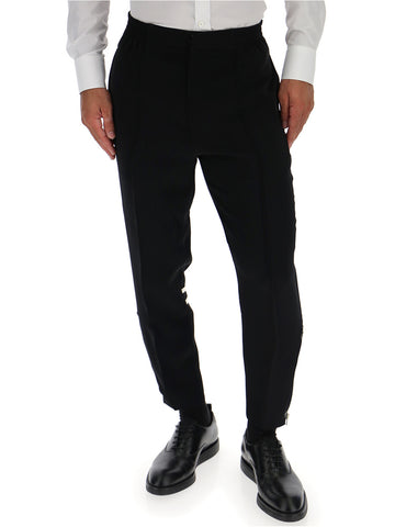Alexander McQueen Double Stripe Detail Trousers