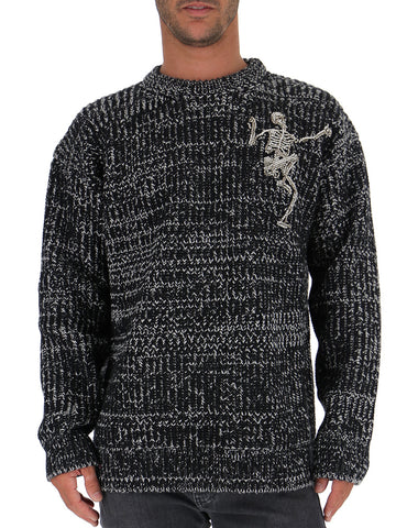 Alexander McQueen Crystal Embellished Dancing Skeleton Sweater