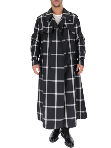 Alexander McQueen Check Print Belted Trench Coat